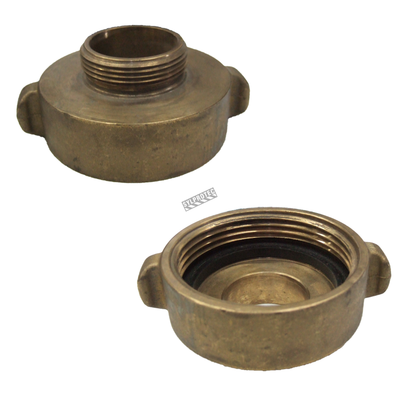 Threaded brass reducer inch to female male