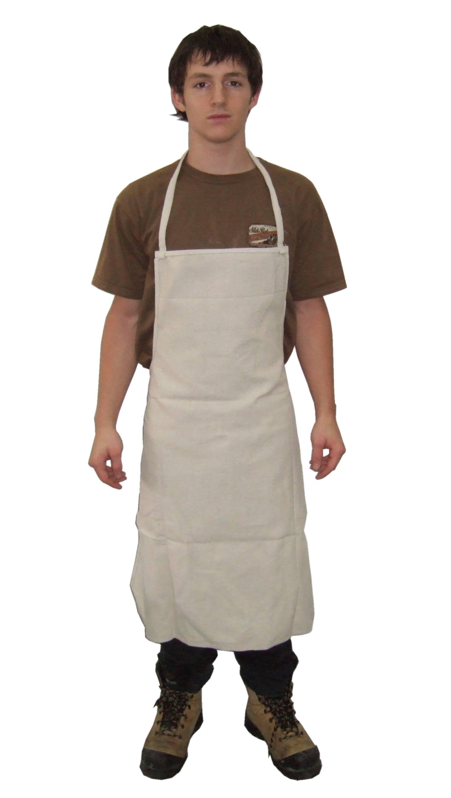 White denim apron - White Denim Apron 19