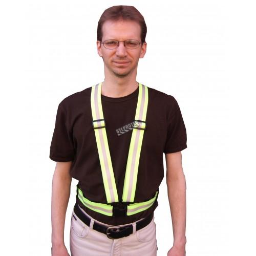 Bretelle de sécurité fait de 2 bandes verticales