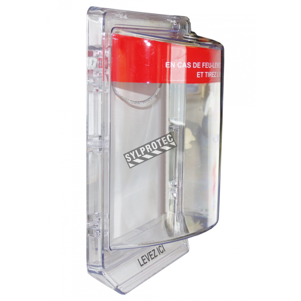 Clear Polycarbonate Cover For Flush Mount Fire Alarm Pull