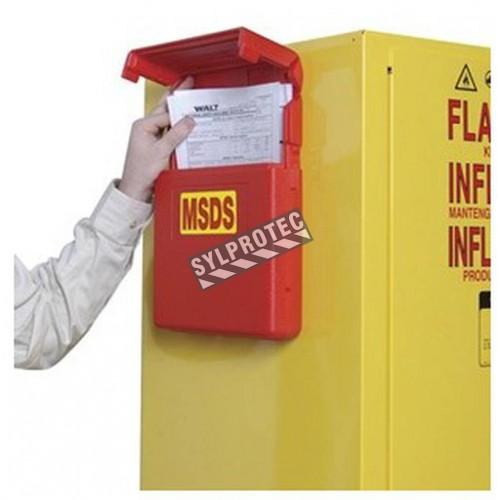 Boîte de rangement pour fiches signalétiques (MSDS)