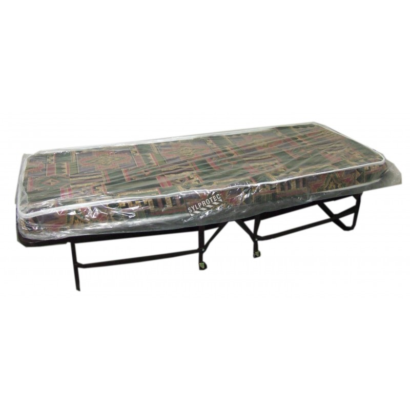Folding bed cot with mattress and casters