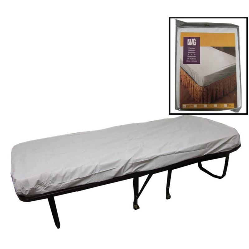 Couvre matelas housse en vinyle blanc pour lit d 39 une place Housse complete pour matelas