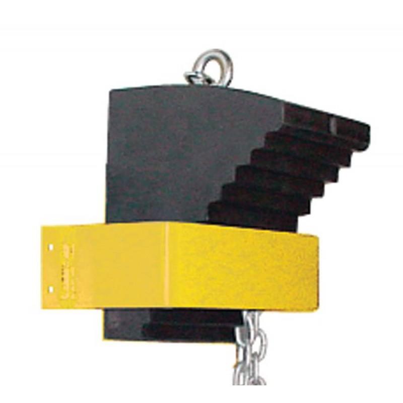 support pour cale roue kh032 fait d 39 acier peintur jaune. Black Bedroom Furniture Sets. Home Design Ideas