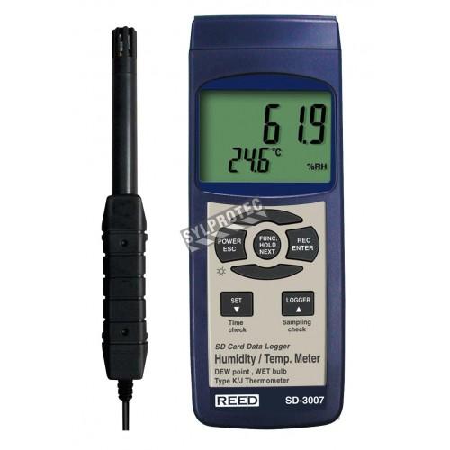 Thermo-hygromètre et enregistreur.