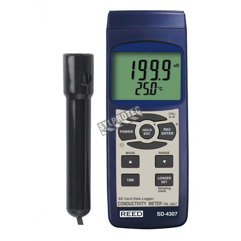 Compteur de MDT, salinité, conductivité, enregistreur