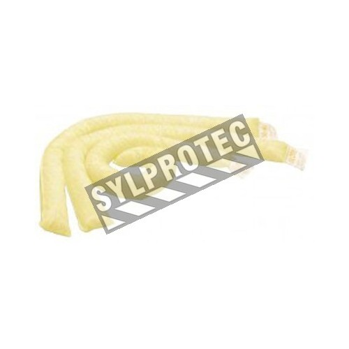 HazMat absorbent socks for corrosive or hazardous chemical spills, 3 inches X 4 feet, 40 socks/package.