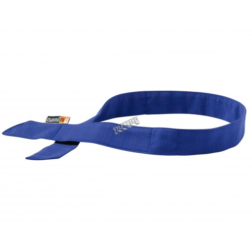 Bandeau bleu rafraîchissant résistant aux flammes, avec cristaux de polymère d'acrylique.