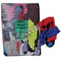 Chiffons de retailles de tissus en coton de couleurs variées, sac de 10 lbs.