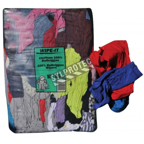Cloth made of scrap cotton fabrics of different color, bag of 10 lbs.