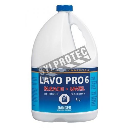 Desinfectant eau de javel à 6%, contenant de  5.78 litres.
