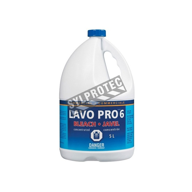 Disinfectant bleach 6%, containing 5.78 liters.