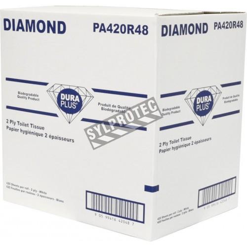 CLASSIC toilet paper, 2 ply, 420 sheets per roll, 48 rolls per box.