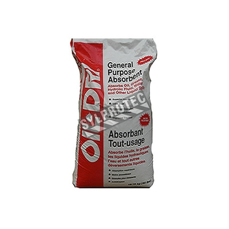 2314d133aef General purposes granulated absorbent. 18 KG bag. Absorb oil