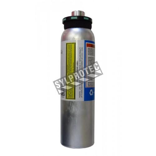MSA calibration testing gas mix, 34 L. Methane (CH4), oxygen (O2), carbon monoxide (CO) & hydrogen sulfide (H2S).