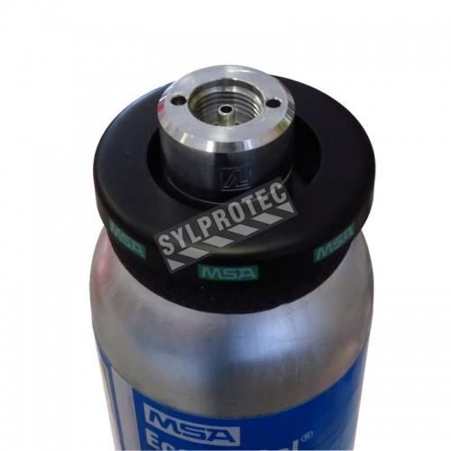 Mélange gazeux pour étalonnage, 34 L. Méthane (CH4), oxygène (O2), monoxyde de carbone (CO) & sulfure d'hydrogène (H2S).