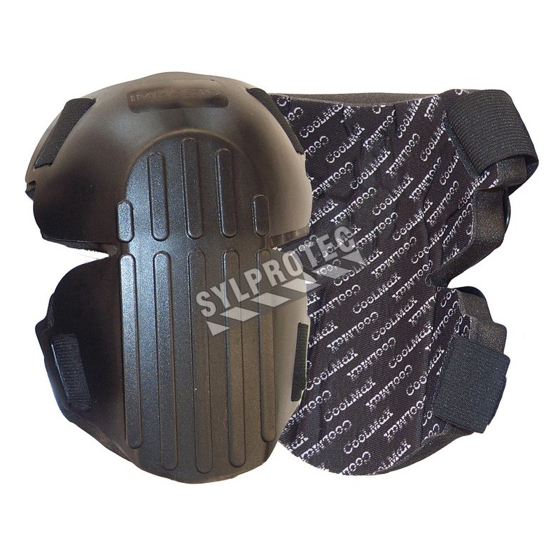 Hinged hard shell knee pads made of co-polymer foam, with breathable lining (pair).