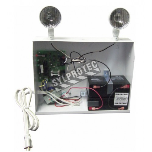 Emergency light unit 12 V 160 W with 2 spotlights