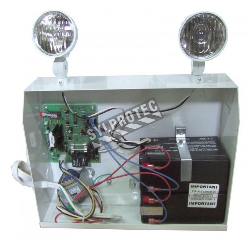 Emergency light unit 12 V 200 W with 2 spotlights