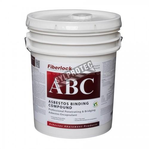 Agent encapsulant blanc pour l'amiante Fiberlock ABC Asbestos Binding Compound, 20 L (5 gallons).