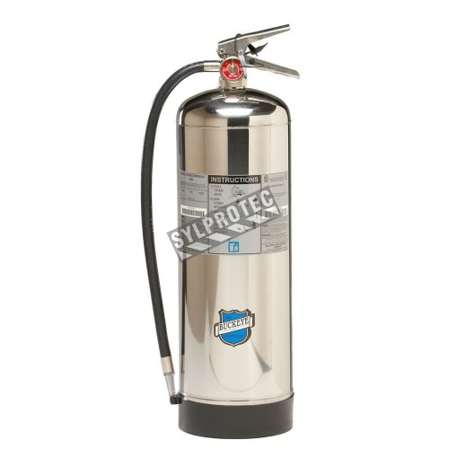 Portable fire extinguisher with pressurized water, 2.5 gallons, type A, ULC 2A, with wall hook