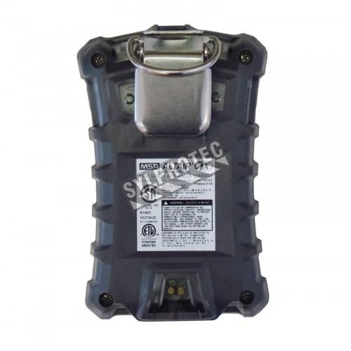 Détecteur 4 gaz MSA Altair 4X, pour gaz explosifs, oxygène (O2), monoxyde de carbone (CO) et sulfure d'hydrogène (H2S).