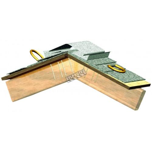 Connecteur d'ancrage pour toiture de Miller pour protection antichute sur le bois ou la tôle. Supporte 400 lb.