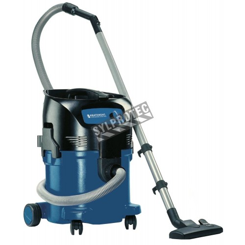Wet and dry 8 gallon HEPA bag vacuum cleaner, great for asbestos removal.