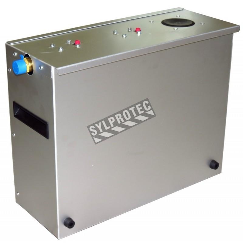 Pompe de filtration d'eau usée pour douche de décontamination TeleShower. Ensemble de filtres 25 µm et 5 µm inclus.