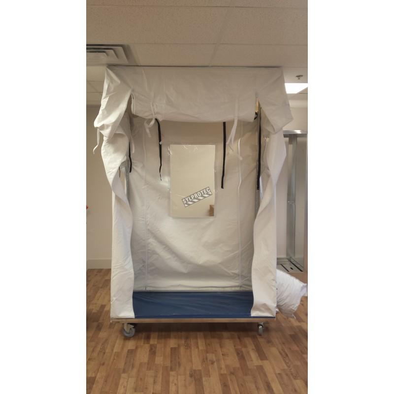 Cube de confinement mobile, pour désamiantage et décontamination.