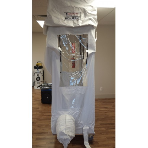 Mobile containment cub kit for asbestos removal and decontamination.