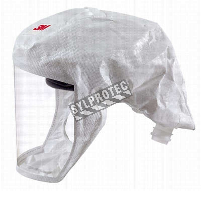 3M white S-series headcover for respiratory protection systems in health, food and pharmaceutical sectors. Medium/large size.