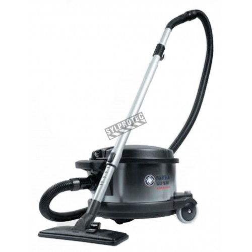 Nilfisk GD930 industrial vacuum cleaner with HEPA filter, 4 gallons, with bag, for asbestos, hazardous dusts and dry materials.