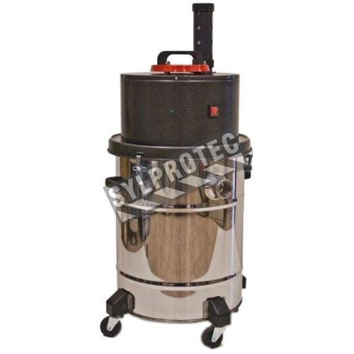 HEPA industrial vacuum 12 gal. for wet and dry recovery. Including HEPA filter and polyester main filter.
