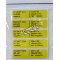 Adhesive bilingual security seal for first aid kits, 25/pack