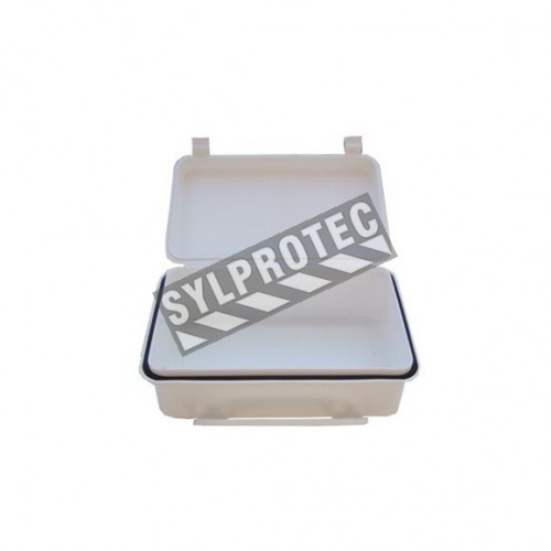 Empty polypropylene case for vehicle first aid kit (TR01).