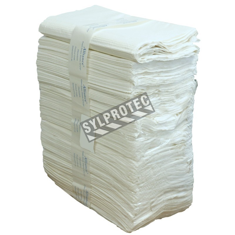 Disposable 2-ply tissue bed sheets for twin bed, 25/pkg.