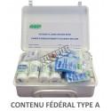 Trousse de premiers soins de 14 types d'articles avec contenu respectant les exigences fédérales (type A  2 à 5 employés)