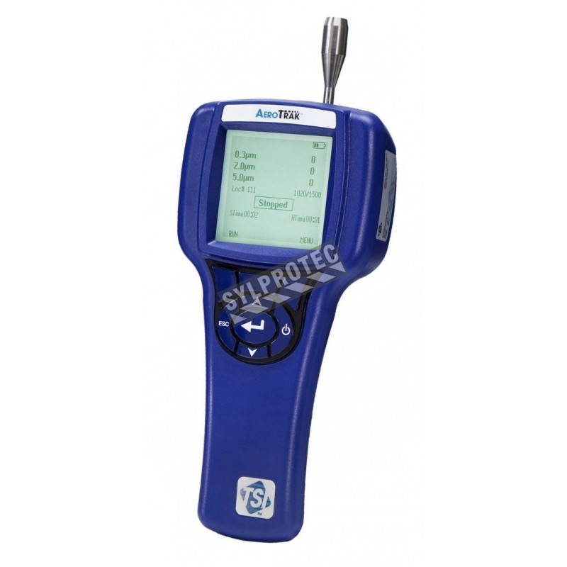 Handheld laser particle counter