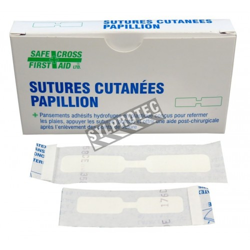 Butterfly skin closure strips for sutures, medium & large, 20/box.