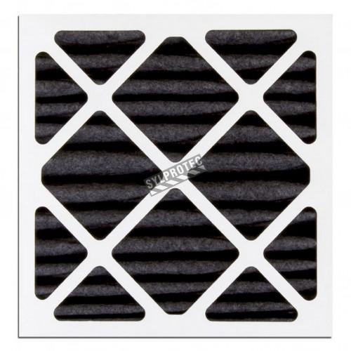 """Filtre optionel pour vapeur organique conçu pour machines HEPA-AIRE & BULLDOG. Filtre 24""""X24""""X2"""" pour particule de 3 µm à 10 µm"""