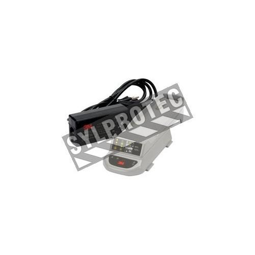 Chargeur intelligent à 1 station pour batterie de Versaflo TR-600 de 3M. Ensemble comprenant la station et le cordon.