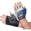 Cowhide and Spandex Impacto® half finger gel workglove for abrasion and impact protection. Sold in pairs.
