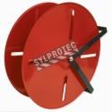 Dévidoir circulaire de 24 pouces, pour boyau à double enveloppe ou en caoutchouc de 150 pieds.
