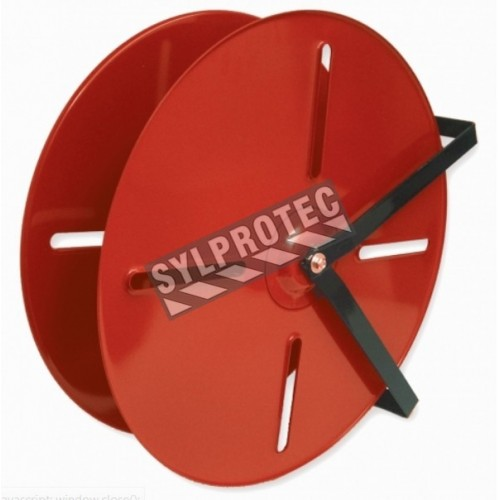 High capacity 24-inch hose reel for 150 feet heavy duty double jacket or rubber hose.