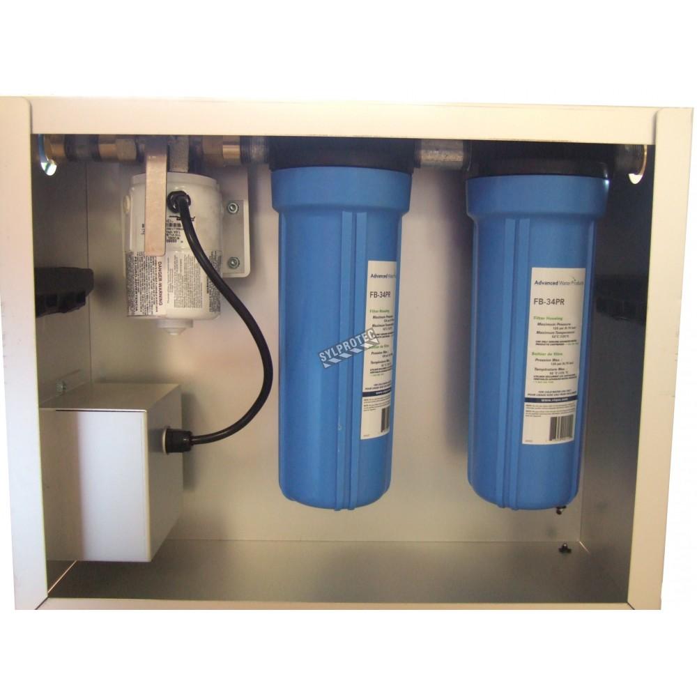 pompe de filtration d eau us e pour douche de d contamination. Black Bedroom Furniture Sets. Home Design Ideas