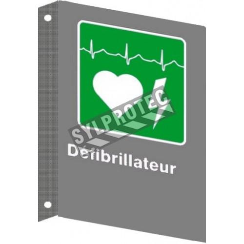 Affiche CSA «Défibrillateur» en français, formats & matériaux divers, d'autres langues & éléments optionnels