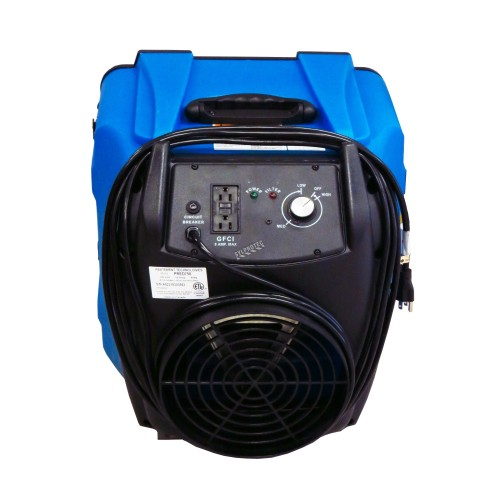Predator 750 portable air scrubber with airflow from 200 to 750 cfm. Ideal for asbestos abatement and decontamination work zone