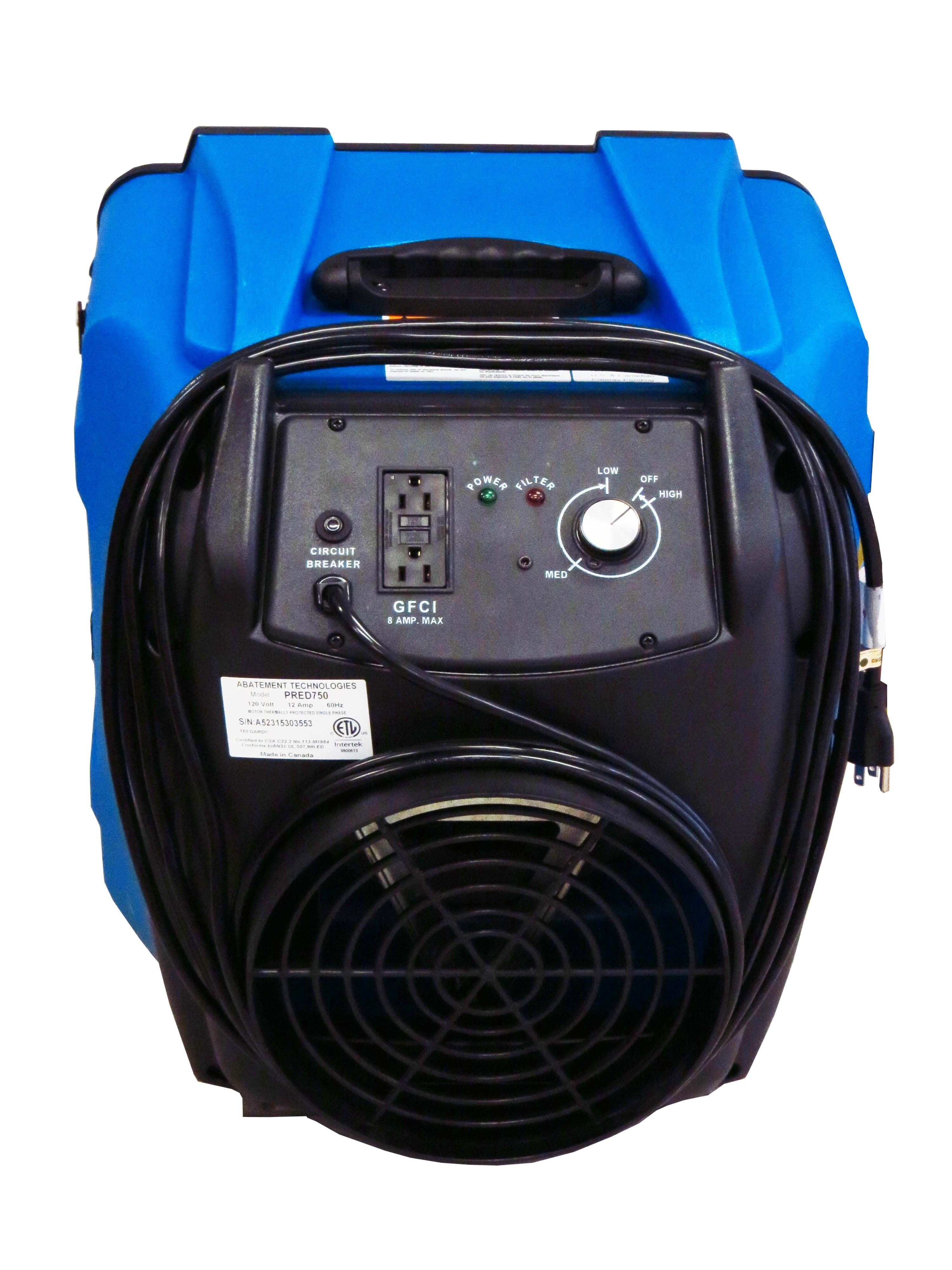 Predator 750 Portable Air Scrubber With Airflow From 200 To Cfm Circuit Breaker