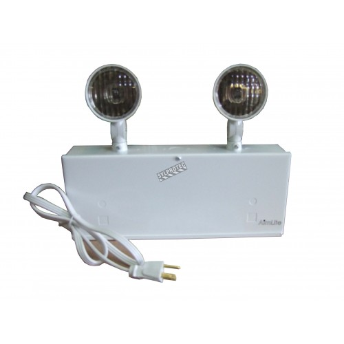 Emergency light unit 6 V 36 W with 2 spotlights